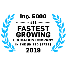 Inc. 5000 #11 Fastest Growing Education Company in the U.S.