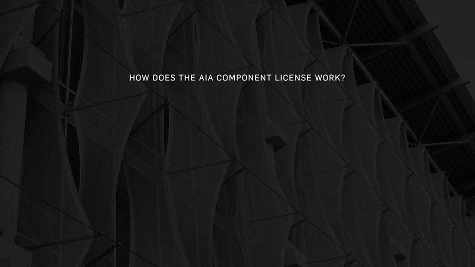 How Does The AIA Component License License Work?