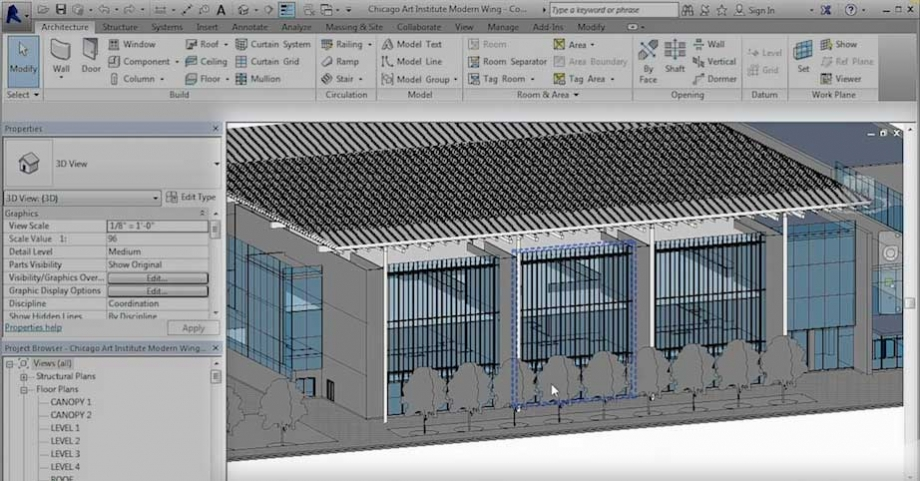 Loading the Gallery Panels into the Project – Revit 2016