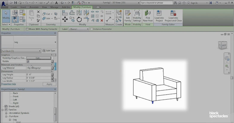 An Easier Way to Build Chair Legs in Revit 2016