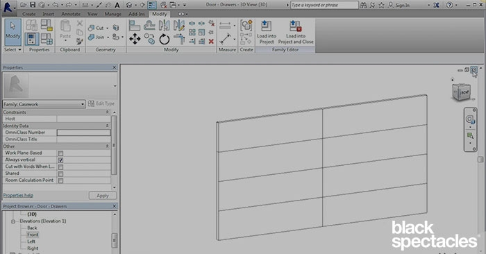 Creating Different Versions of the Casework – Revit 2016