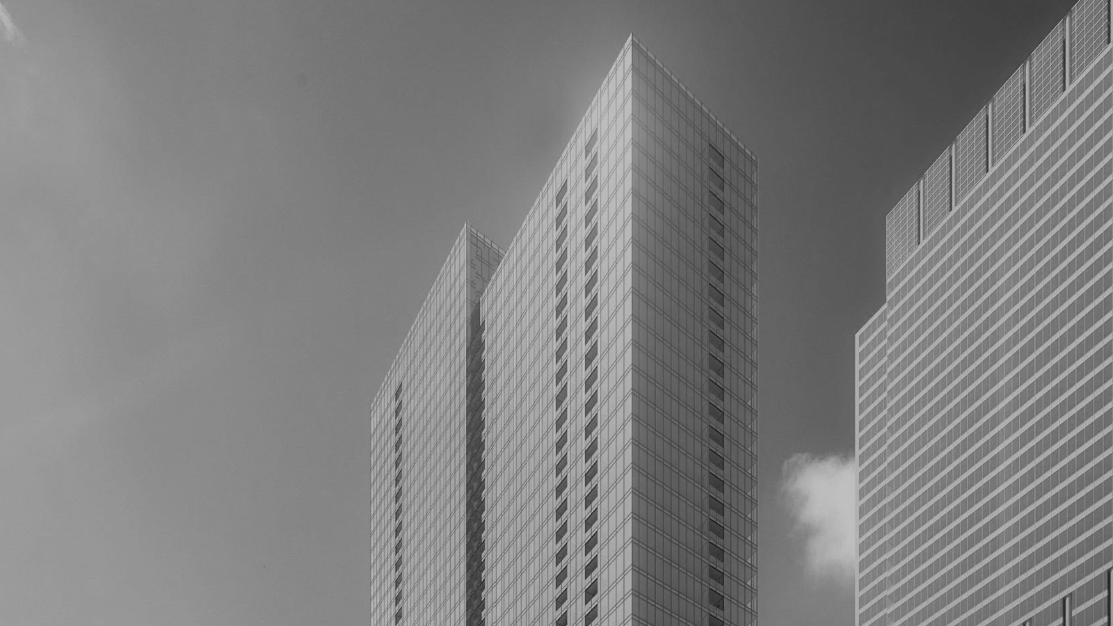 stylized, B&W photo of bKL ARCHITECTURE - PARCEL O
