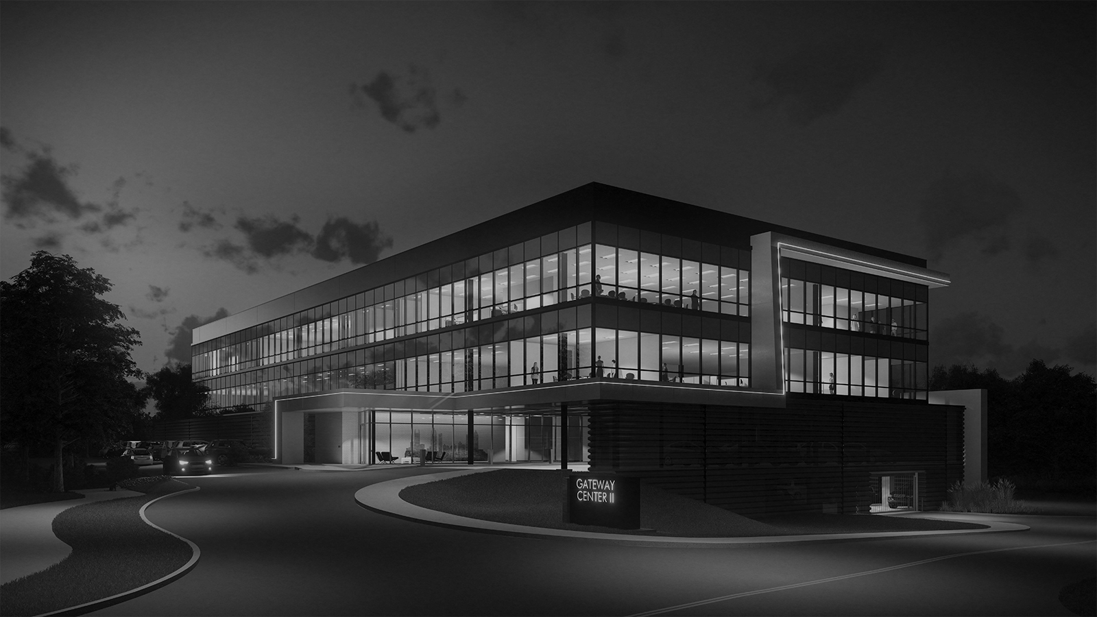 stylized, B&W photo of 5G STUDIO  - GATEWAY CENTER II