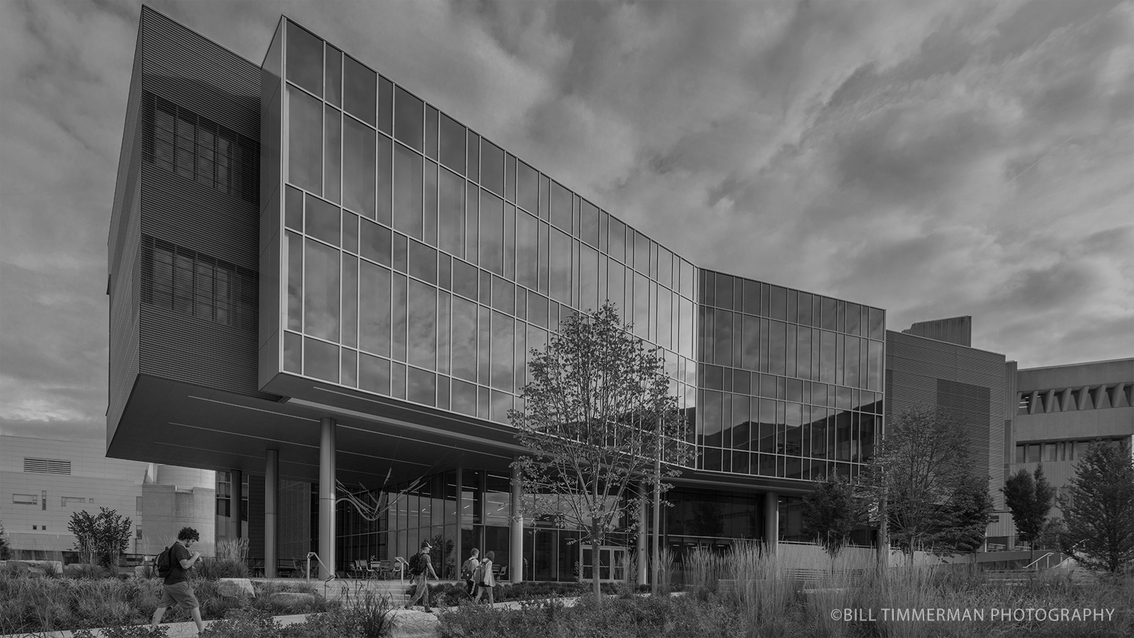 stylized, B&W photo of CO ARCHITECTS - NKU HEALTH INNOVATION CENTER RENOVATION