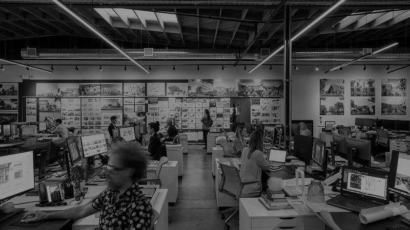 stylized, B&W photo of R&A Architecture + Design - Practice Management