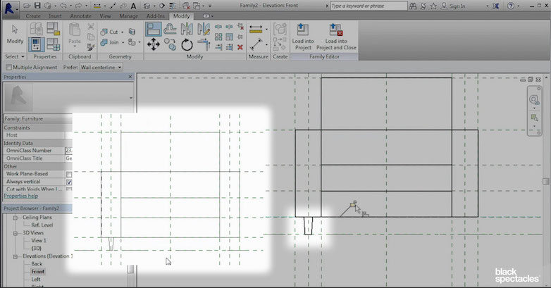Building Chair Legs and a Nested Family – Revit 2016 Free