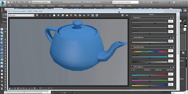 Teapot VRay Proxy Example in Vray 3 2 for 3ds Max Free